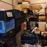 picture of stacks of equipment in storage